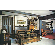 The Hotel Lobby Golden Lamb Inn Lebanon OH Ohio Vintage Postcard