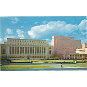 Library and Halls Columbia University NYC NY New York Vintage Postcard