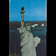 Statue of Liberty Liberty Island New York City NY New York Vintage Postcard