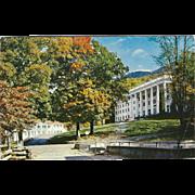Robert E Lee Hall College Hall Blue Ridge NC North Carolina Vintage Postcard