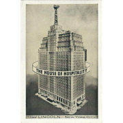 Hotel Lincoln 44th-45th Sts at 8th Ave NYC NY New York Vintage Postcard