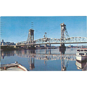 Dunn Memorial Bridge Albany NY New York Vintage Postcard