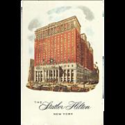 The Statler Hilton New York City NY New York Vintage Postcard