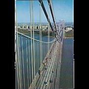 New York City from Top Geo Washington Bridge NYC NY New York Vintage Postcard