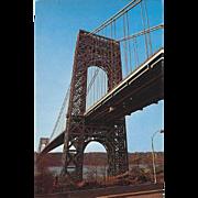 George Washington Bridge New York City NY New York Vintage Postcard