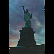 The Statue of Liberty Liberty Island New York City NY New York Vintage Postcard