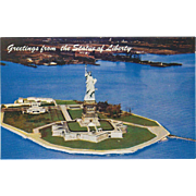 Greetings from the Statue of Liberty New York City NY New York Vintage Postcard