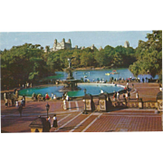 Sailboat Lake and Mall Central Park New York City NY New York Vintage Postcard