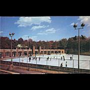 Wollman Memorial Skating Rink Central Park NYC NY New York Vintage Postcard