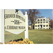 The Granger Homestead Canandaigua NY New York Vintage Postcard