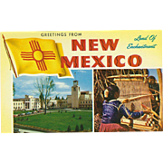 Two Views Greetings from NM New Mexico Land of Enchantment Vintage Postcard