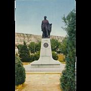 Marquis De Mores Statue Medora ND North Dakota Vintage Postcard