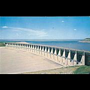 Garrison Dam Riverdale ND North Dakota Vintage Postcard