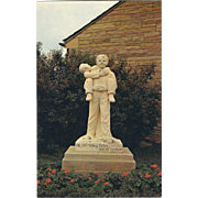 Famous Statue Boys Town NE Nebraska Vintage Postcard