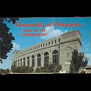 Memorial Stadium University of Nebraska Lincoln NE Nebraska Vintage Postcard