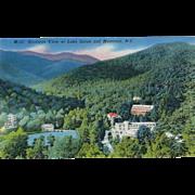 Birdseye View of Lake Susan and Montreat NC North Carolina Vintage Postcard