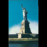 Statue of Liberty Liberty Island NYC NY New York Vintage Postcard