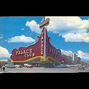Palace Club Oldest Established Casino Reno NV Nevada Vintage Postcard