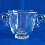 Heisey Lariat Double-handled Sugar Bowl