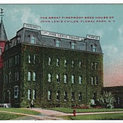 FIreproof Seed House Floral Park New York NY Postcard
