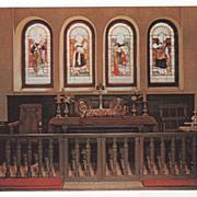 Old Brick Church (St. Luke's) near Smithfield VA Virginia - Chrome Card
