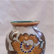 Small Gouda Floral Pottery Vase