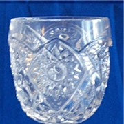 EAPG Dixie Bell Goblet with Straight Rim