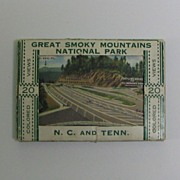 SOLD Miniature Souvenir Folder Great Smoky Mountains National Park - Red Tag Sale Item