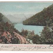 Along the French Broad River Asheville NC North Carolina Vintage Postcard