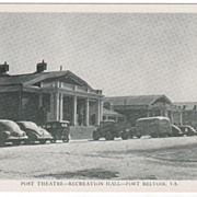 SOLD Post Theatre - Recreation Hall - Fort Belvoir VA Virginia - Early Chrome