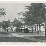 Street Scene - Engineer Replacement Training Center - Fort Belvoir VA Virginia Postcard