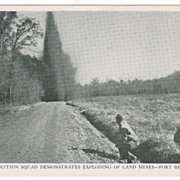 Demolition Squad Demonstrates Exploding of Land Mines Fort Belvoir VA Virginia