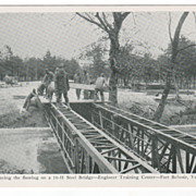 Laying the Floor on a 10-11 Steel Bridge - Fort Belvoir VA Virginia Postcard