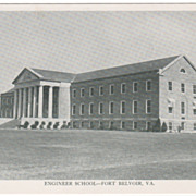 Engineer School - Fort Belvoir VA Virginia Postcard - Early Chrome