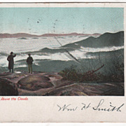 Asheville NC North Carolina Above the Clouds Vintage Postcard