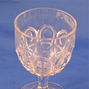 Early American Pressed Glass Recessed Ovals Goblet
