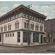 Virginia Carolina Building Norfolk VA Virginia - Early Postcard Date 8/1/1908