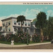 White Border Linen Postcard The Cocoa House on the Indian River FL