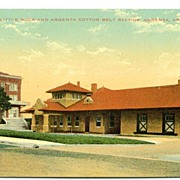 Postcard Little Rock and Argenta Cotton Belt Station Argenta Arkansas AR