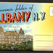 Souvenir Folder of Albany New York Linen