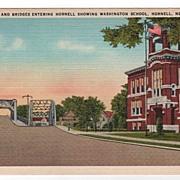 Highway & Bridges Entering Hornell New York NY Postcard