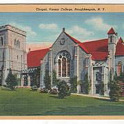 Chapel Vassar College Poughkeepsie NY New York Vintage Postcard