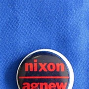 Nixon Agnew Political Button - Black and Red with White Border
