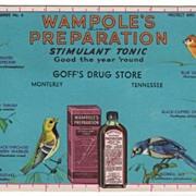 Ink Blotter Goff Drug Store Monterey Tennessee