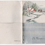 1934 Christmas Card Wartburg TN Adkins Family Coach