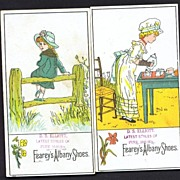 Two Trade Cards Fearey's Albany Shoes