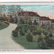 East View Grove Park Inn Asheville NC North Carolina Vintage Postcard