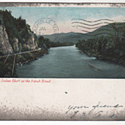 Asheville NC North Carolina Indian Bluff on the French Broad Vintage Postcard