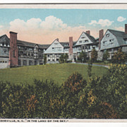 The Manor Asheville NC North Carolina in the Land of the Sky Vintage Postcard