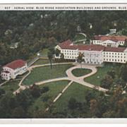 Aerial View Blue Ridge Association Blue Ridge NC North Carolina Vintage Postcard